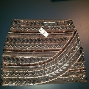 Express Mini skirt with Sequins size Med NWT